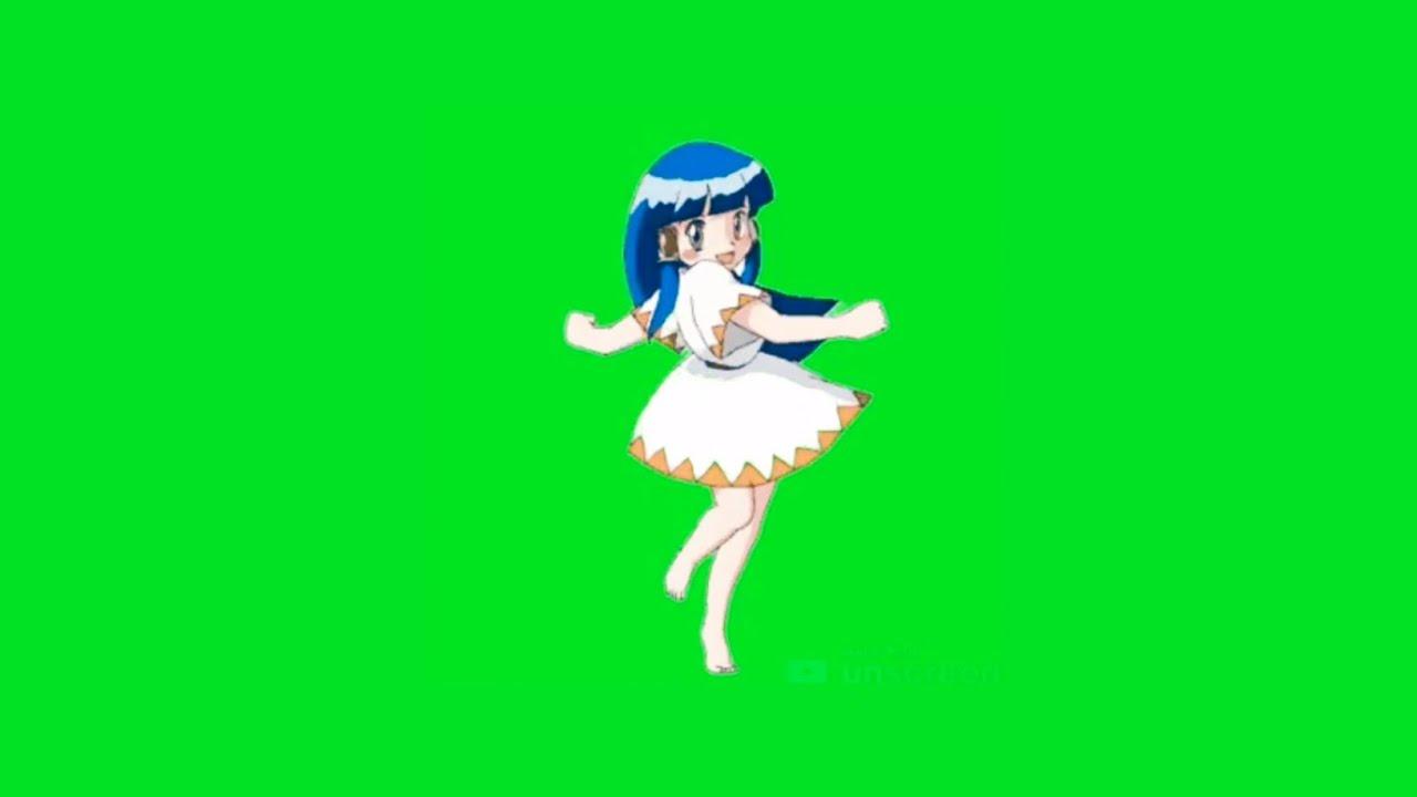 green screen anime dance