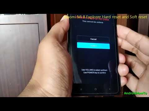 Xiaomi Mi 8 Explorer Hard reset and Soft reset