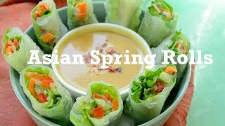 Plant-based Asian Spring Rolls: Learn how to prepare low-fat,  gluten-free vegan appetizer
