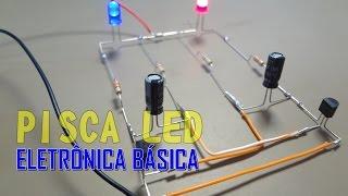 ⚡SÉRIE ELETRÔNICA BÁSICA: COMO MONTAR UM CIRCUITO FLIP FLOP - PISCA LED. thumbnail