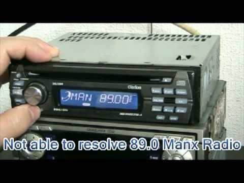 Testing Clarion DB238R on FM  YouTube