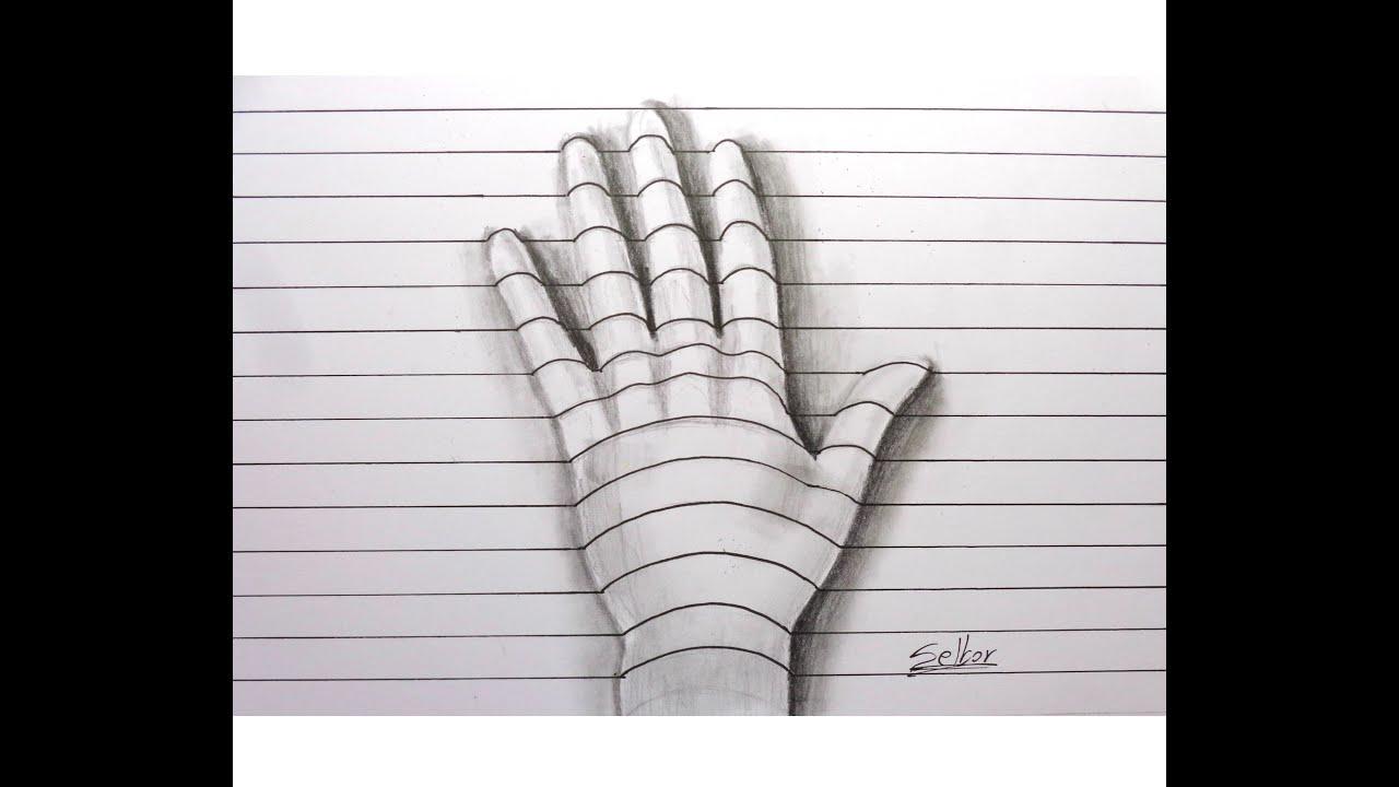 Cmo dibujar una mano con relieve  3D Paso a paso  Selbor