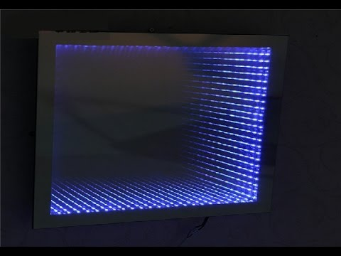 How To Make An Led Illusion Mirror With Frame Youtube