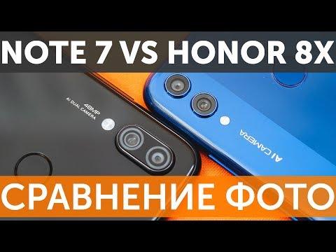 Сравнение камер Xiaomi Redmi Note 7 vs Honor 8X по фотографиям