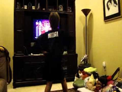 8 Year Old Football Player Dancing To Wii Just Dance Game