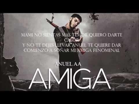 "Amiga - Anuel AA ""LETRA"" (Audio Oficial) [Real Hasta La Muerte] [F4LKON]"