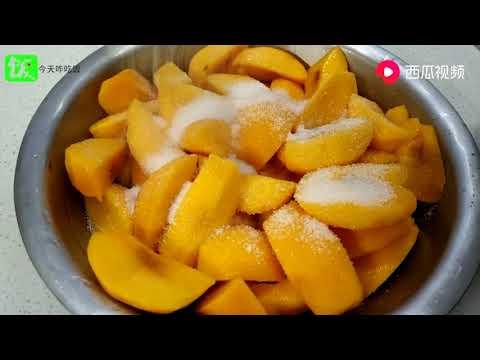 黃桃的季節,不放一滴水,手把手教你黃桃罐頭好吃的做法