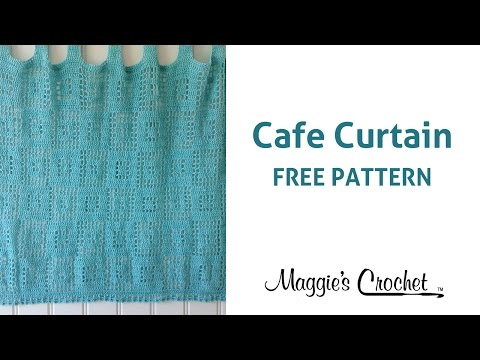 Cafe Curtain Free Crochet Pattern - Right Handed