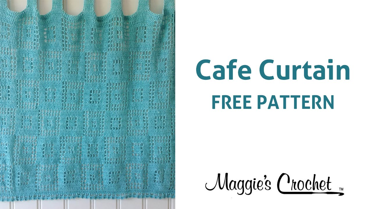 Cafe Curtain Free Crochet Pattern - Right Handed - YouTube