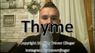 How To Say Thyme