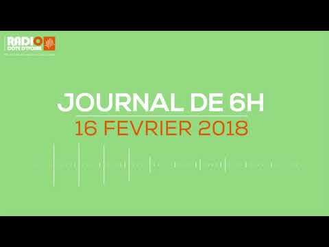 Le journal de 6h du 16 février 2018 - Radio Côte d'Ivoire