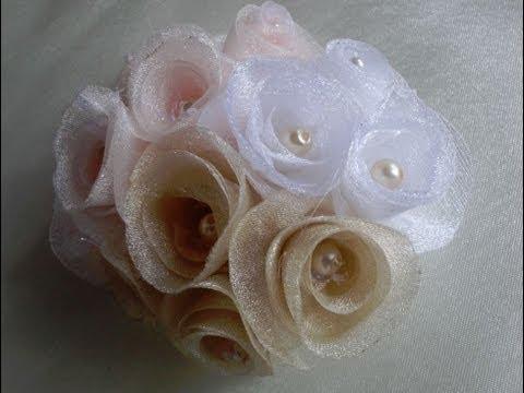 Как легко сделать спиральные розы. Цветы из ткани