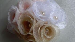 Как легко сделать спиральные розы. Цветы из ткани(Видео о рукоделии: мастер класс, где я покажу легкий способ, как сделать розочки из ткани, который смогут..., 2013-08-17T19:53:19.000Z)
