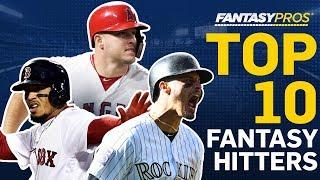 Top 10 Fantasy Baseball Hitters (2019)