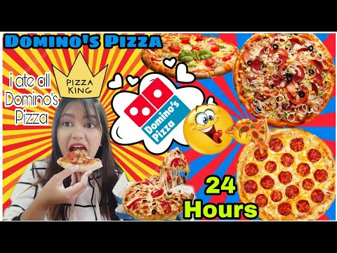 """i only ate *Domino's Pizza* for 24 """"HOURS""""