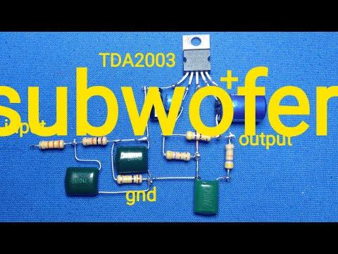 WOFER Singel Power Tda2003