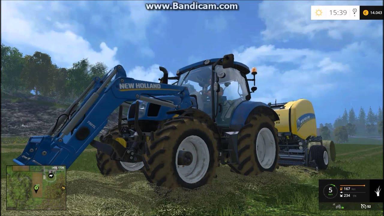 Farming simulator 2015 grass hay harvest youtube for Dans gwadek 2
