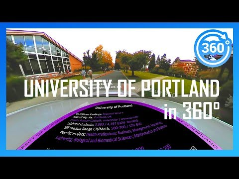 [2020] UNIVERSITY OF PORTLAND in 360° (driving campus tour)