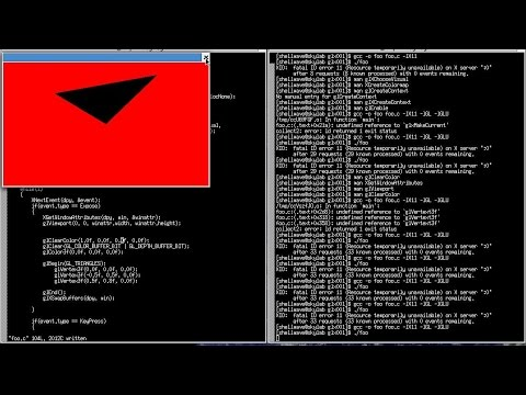 3D Graphics and Animation Programming Tutorial in C/Linux #01 - Creating Triangle