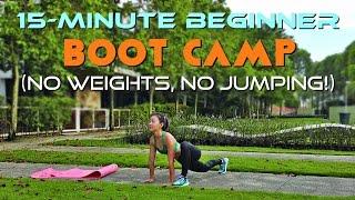 15-Minute Beginner Boot Camp (No Weights, No Jumping!)