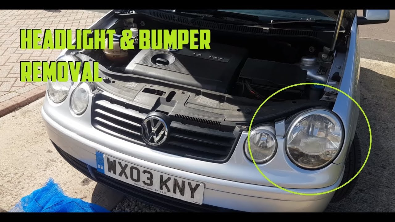 How To Change Mk4 Polo Headlight Unit Bumper Removal Youtube