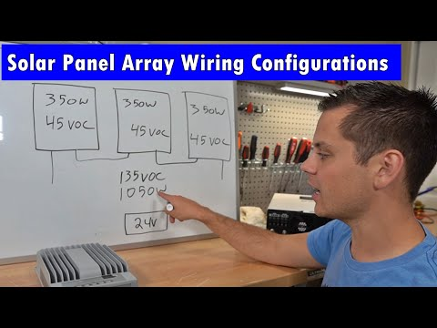 How to Design an Off-grid Solar Power Array Wire Configuration