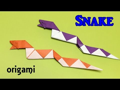DIY snake origami easy instructions | How to make a paper snake one piece of paper