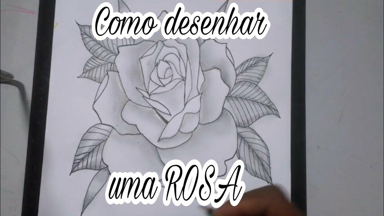 Como Desenhar Uma Rosa Para Tatuagem Passo A Passo Youtube