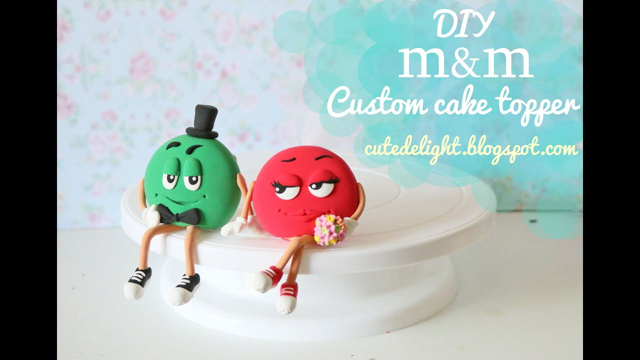 Cute Delight mm wedding cake topper tutorial how to make DIY