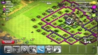 Clash of clans ataques - Baloes e Servos - 3 Estrelas Facíl