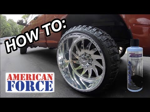 HOW TO CLEAN AND POLISH AMERICAN FORCE FORGED WHEELS BY HAND