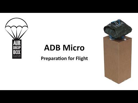 Preparing the ADB Micro box LCLA drop system for flight.