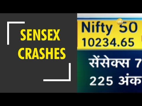 Sensex crashes over 750 points; Nifty ends below 10,300-mark