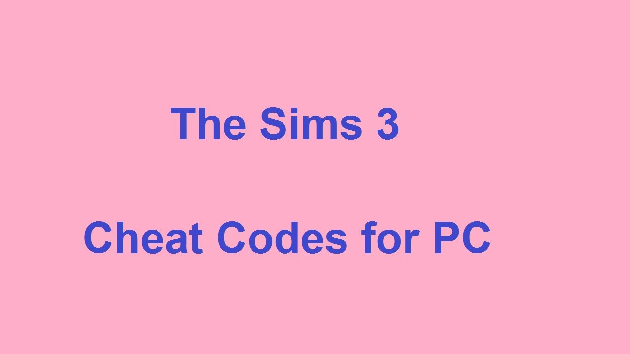 the sims 3 cheat codes pc youtube