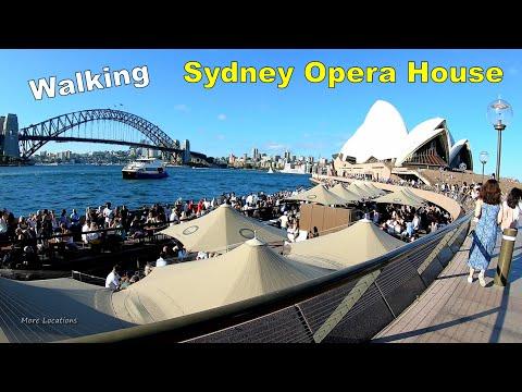 Sydney Walk - SYDNEY OPERA HOUSE - with SYDNEY HARBOUR BRIDGE view   Sydney Australia