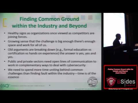 200 Finding Common Ground Within the Industry and Beyond David Shearer