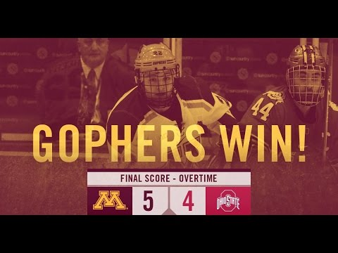 Highlights: Gophers Mens Hockey Defeats Ohio State 5-4 in Overtime For a Series Sweep