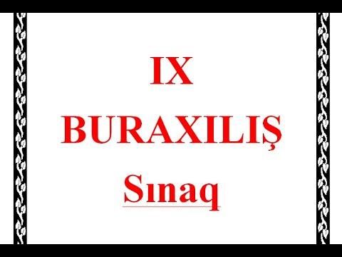 IX Sinif BURAXILIŞ sinaq