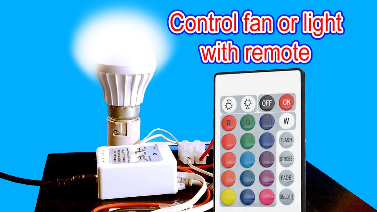 Remote Control For Light Bulb Or Fan