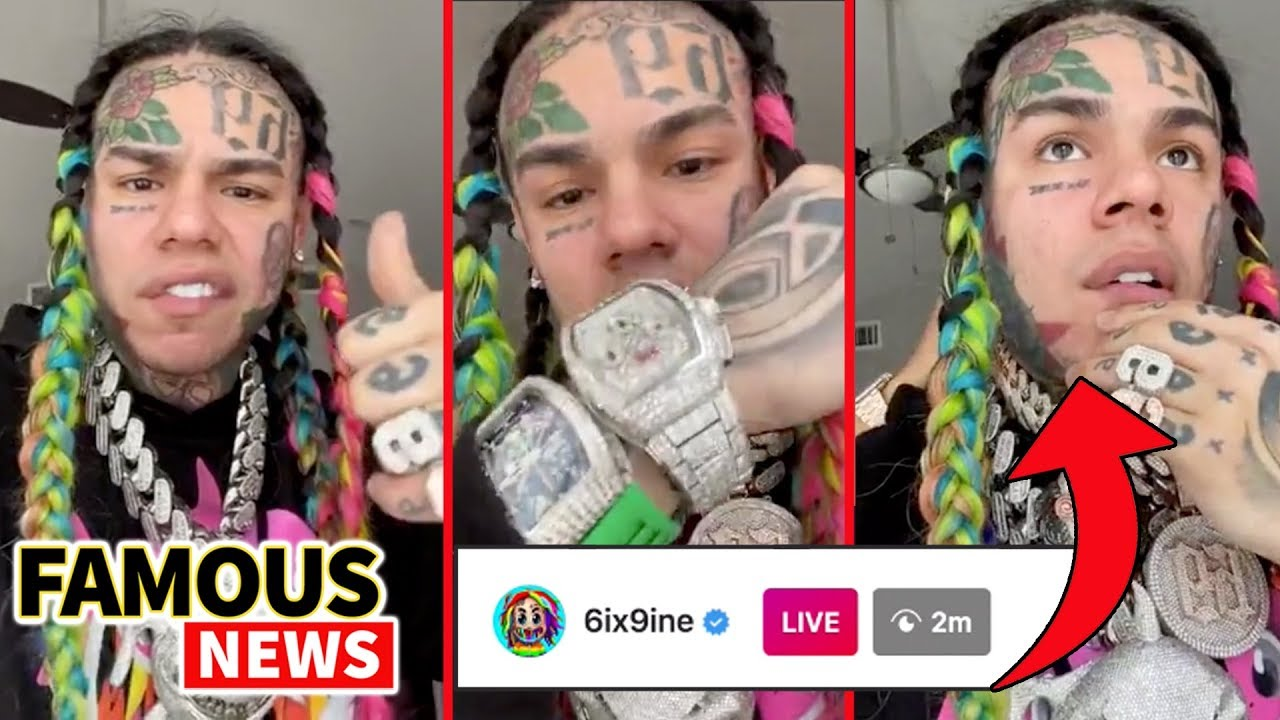 6ix9ine Breaks IG Live Record with 2 Million Views (FULL VIDEO) King of NY,  Gooba & Flexes Wealth - YouTube