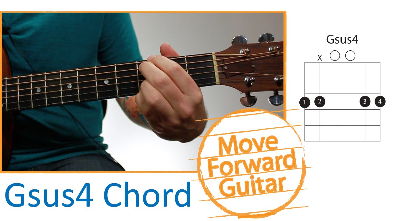 guitar chords for beginners gsus4 youtube. Black Bedroom Furniture Sets. Home Design Ideas