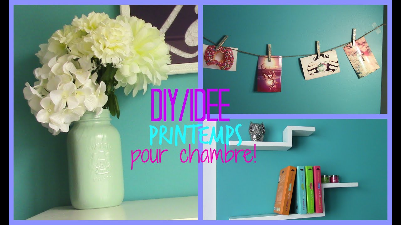 diy id e printemps pour chambre youtube. Black Bedroom Furniture Sets. Home Design Ideas