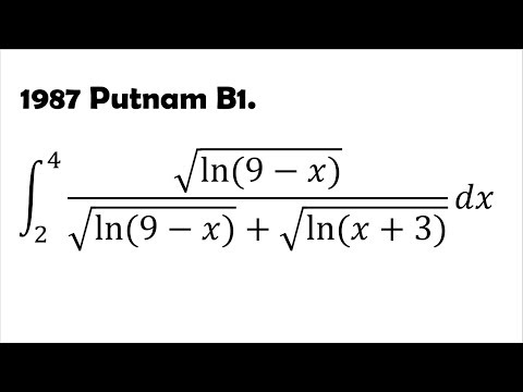 Exploiting Symmetry: Integration Problem from 1987 Putnam B1