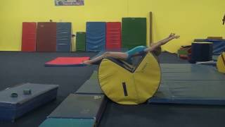 Competitive Level 2 Gymnastics Floor Tumbling Drills and Skills Part 3 - Back Handspring Prep