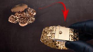 Как из кучки золота сделать золотой браслет. Gold Bracelet