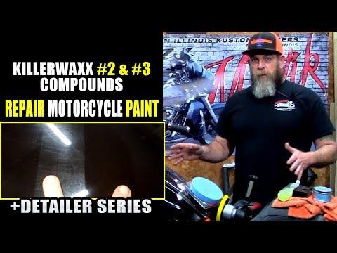 How To Polish & Repair Motorcycle Paint  Killerwaxx #2 & #3 Polishing Compound