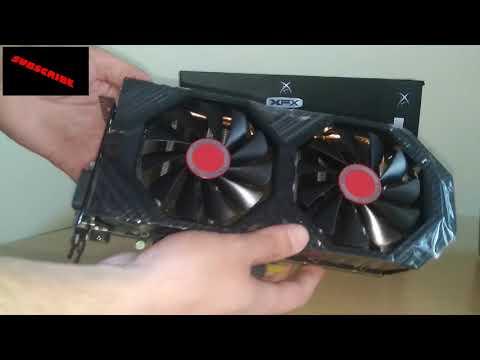 GPU XFX 580 8gb   - Gpu For Mining -   AMD RADEON GTS RX-580P8DFD6 Black
