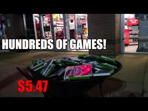 We Brought A Wheelbarrow FULL Of Games To GameStop And Attempted To Trade Them In!