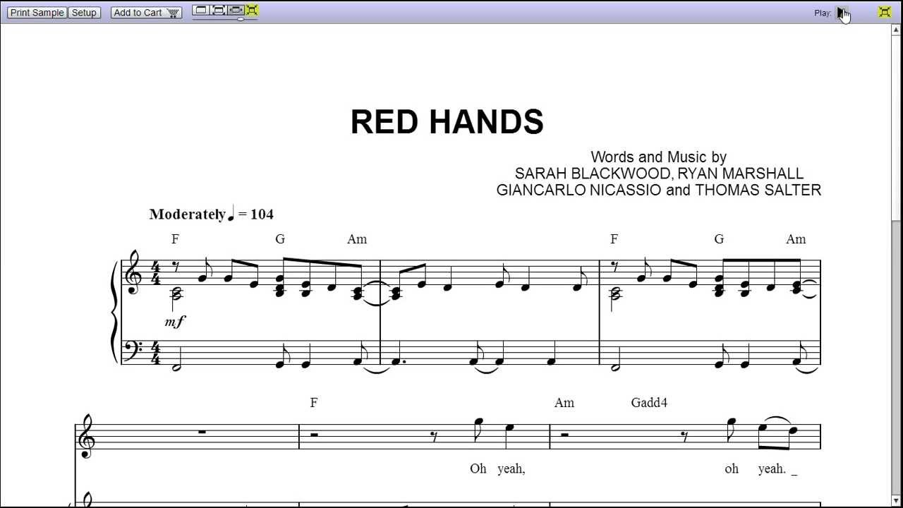 Red hands by walk off the earth piano sheet music teaser red hands by walk off the earth piano sheet music teaser hexwebz Gallery