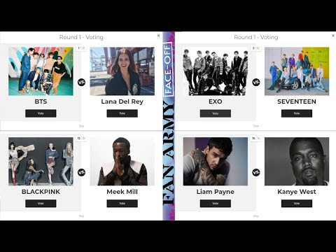 Round 1 Result How To Vote On Billboard Fan Army 2020 I Will Show You Who I Vote Youtube